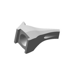 旋挖钻配件 BFZ139 旋挖截齿靴用于螺旋钻、捞沙斗、筒钻