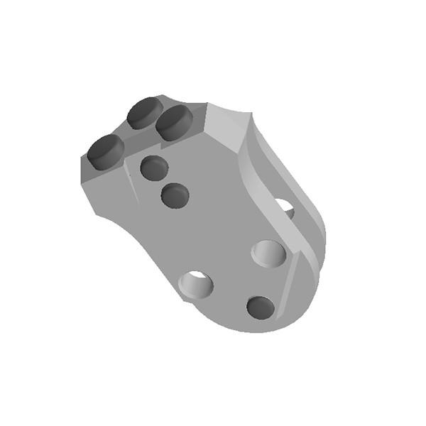 旋挖钻配件 WS39 全套管套管靴焊接齿用于宝峨旋挖钻