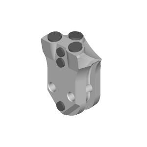 旋挖钻配件 WS46全套管套管靴焊接齿用于宝峨旋挖钻